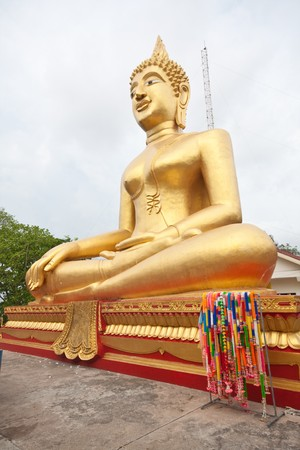 imperial golden buddha in thai temple