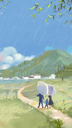 QingMing Festival-spring rain Stock fotó