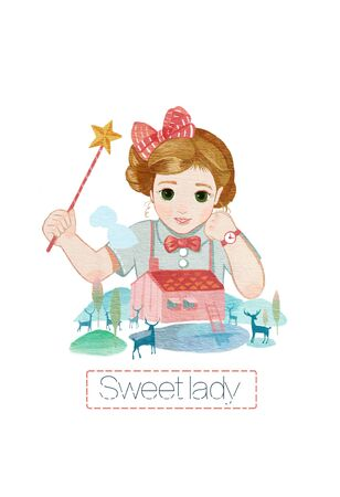 illustration of little Miss Magic
