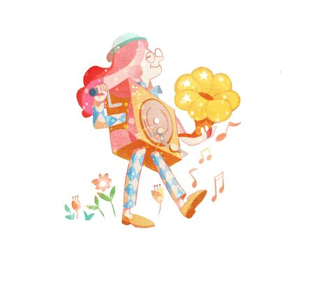 artistic conception illustration of Little musician