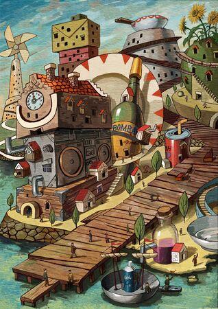 artistic conception illustration of Mastis Main Street