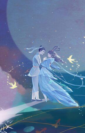 illustration of Tanabata festival