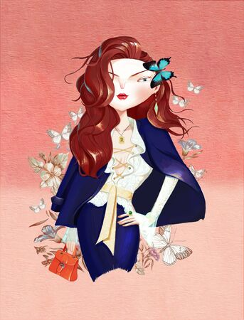 illustration of fashion girl