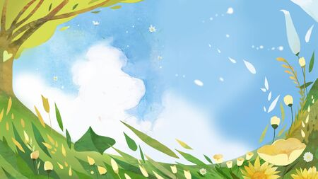 spring concept illustration