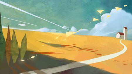 fall concept illustration