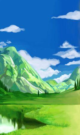 summer concept illustration