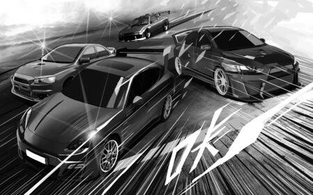 Racing car concept illustration