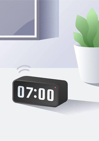 Alarm clock illustartion