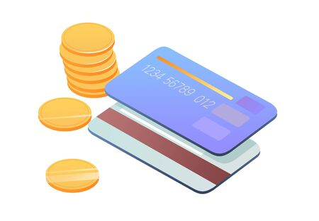 credit card concept illustration Foto de archivo - 127959958