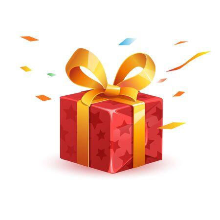 surprise gift  concept illustration Banco de Imagens - 127960231