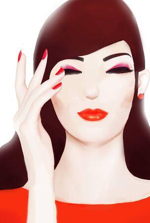 make up concept illustration