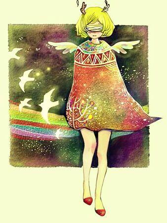 angel  concept illustration Stock Photo