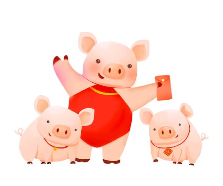 Chinese New Year - Year of the pig illustration