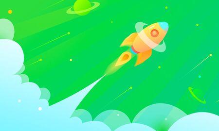 spaceship illustration Çizim