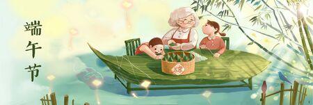 Dragon Boat Festival Standard-Bild