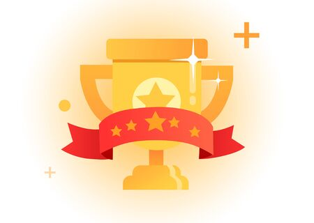 Gold Trophy Ilustração
