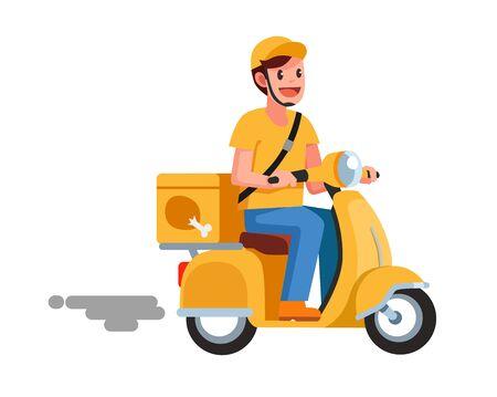 food delivery man 免版税图像 - 128155168