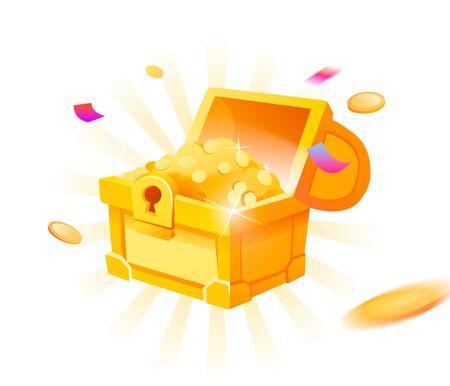 Treasure chest 版權商用圖片