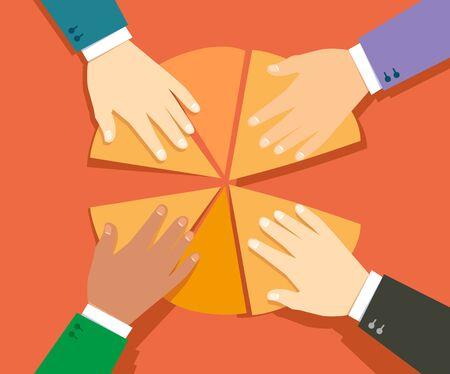 Konzept der Unternehmensaktien