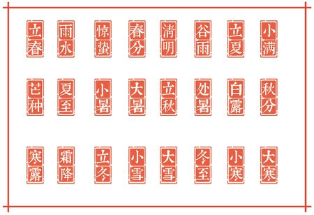 Chinese 24 Solar Terms