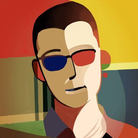 hombre de gafas de sol