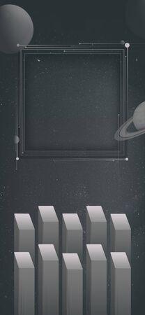 illustration mysterious of galaxy Stock Photo