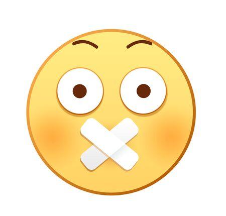 Keep quiet emoji Illustration