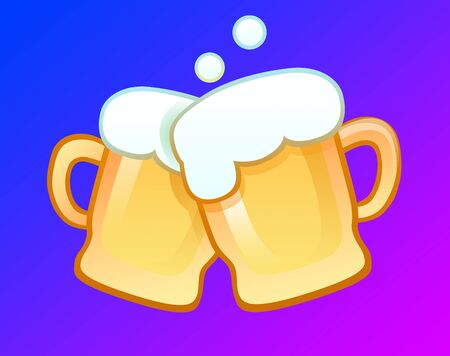 Beer toast 向量圖像
