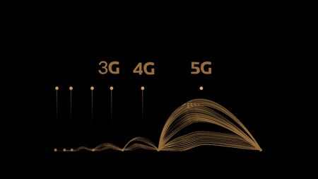 Comparison of 3G to 5G cellular network technology illustration