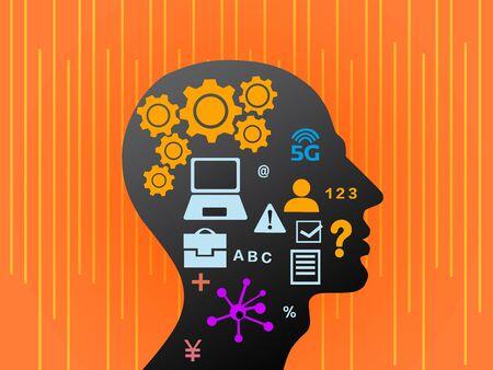 conceptual illustration of brain