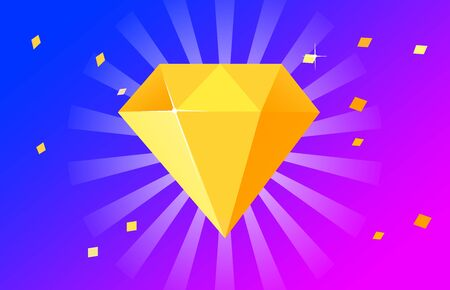 diamond on colorful background Banco de Imagens - 130479252