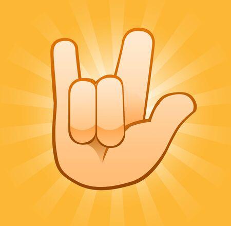 Love you gesture Banco de Imagens - 130642610
