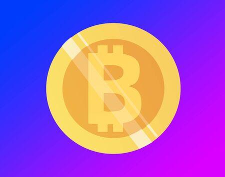 Bitcoin illustration Banco de Imagens - 130642613