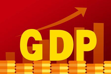 GDP  concept illustration Ilustração