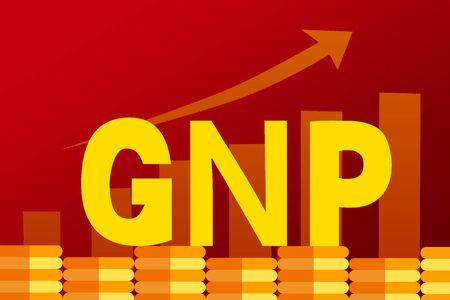 GNP concept illustration Ilustração