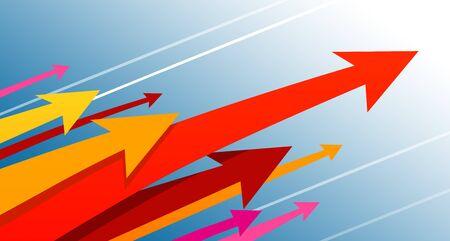 Economic growth arrow concept illustration Ilustração