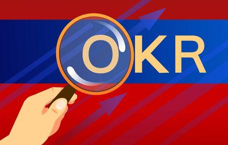 OKR concept illustration Ilustração