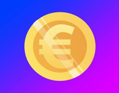 Currency of euro Banco de Imagens - 130643015