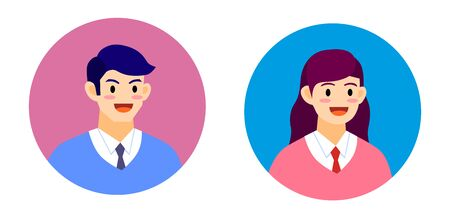 Boy and girl avatar