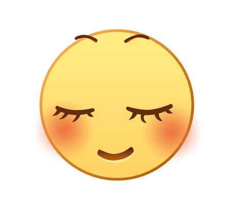 Shy emotion icon