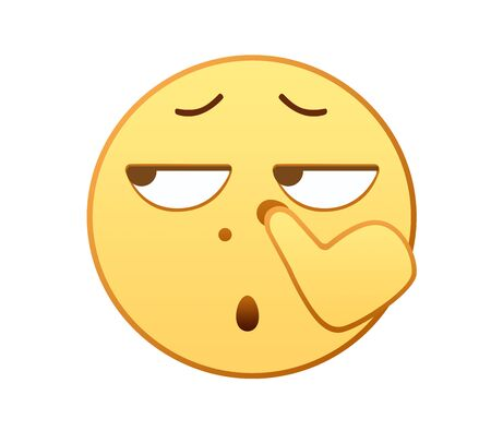 Blowing nose emotion icon