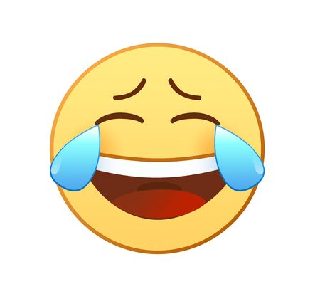 Cry and laugh emotion icon