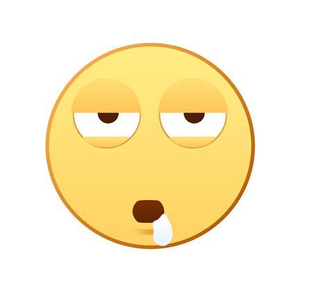 Sleepy emotion icon Vectores