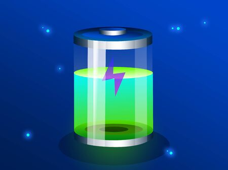 Battery concept icon