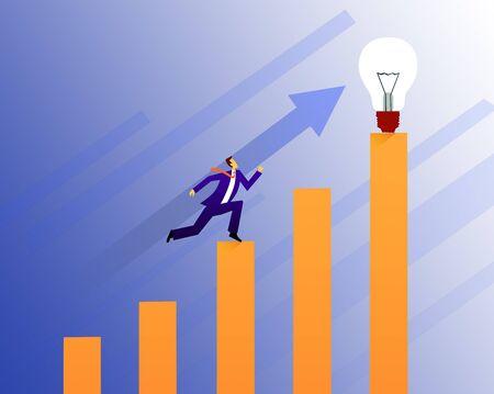 Creativity salary increase concept illustration