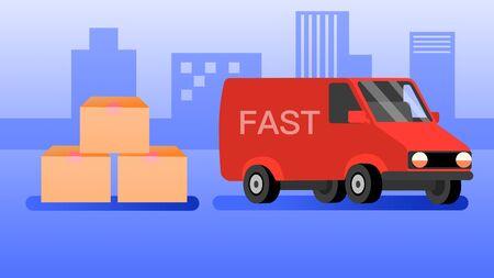 illustration of Express shiping