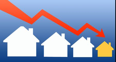 Illustration of House prices decrease