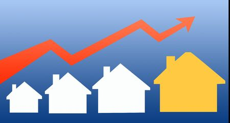 Illustration of Housing prices increase