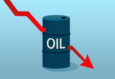 Illustration of oil price decrease