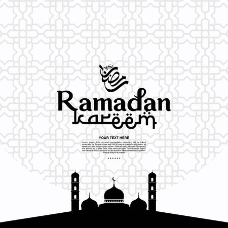 ramadan kareem Vector Design For Banner, Background, can be used as a card, and web. additional to the design of the Ramadan kareem, Eid al-Fitr and Eid al-Adha. vector